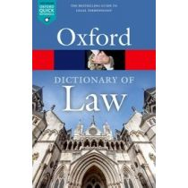 Oxford Dictionary of Law Ninth Edition