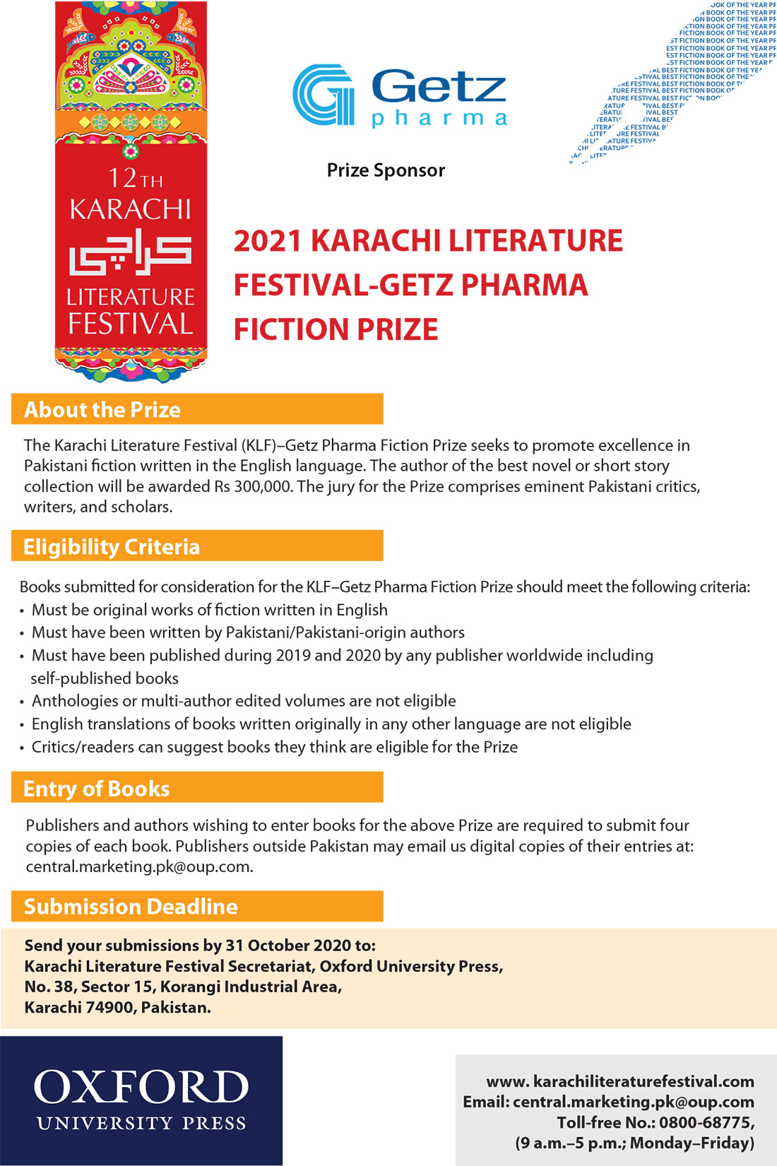 Gets Pharma fiction Prize
